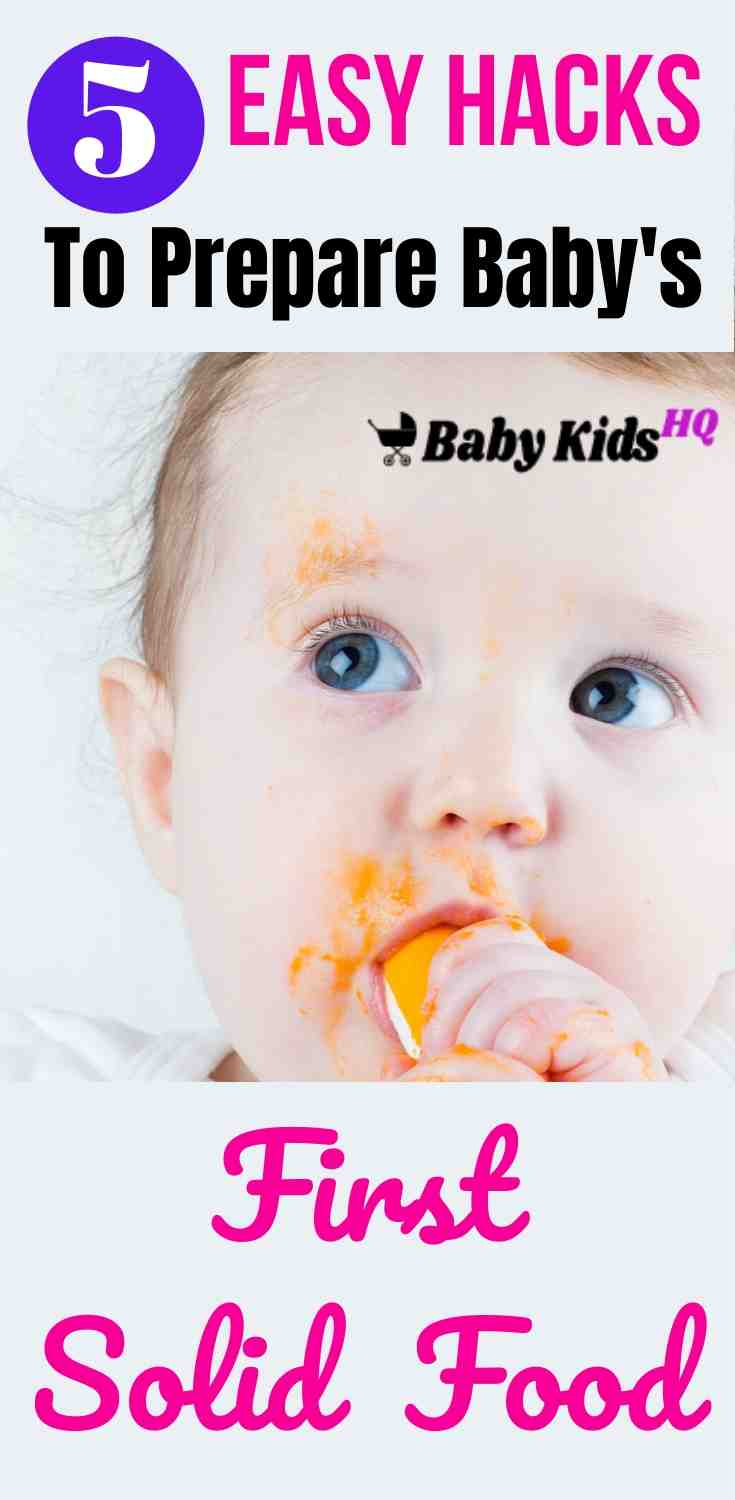 5 Easy Hacks To Prepare Baby's First Solid Food 1