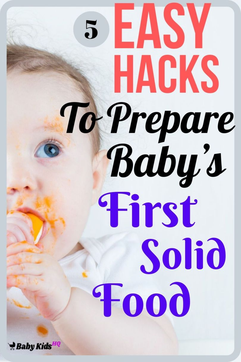 Preparing baby's first solid food can take time. You'll need to ensure baby's first solid food has all the right nutrition and that baby can swallow it easily. If you're a busy parent, this can be a tough!