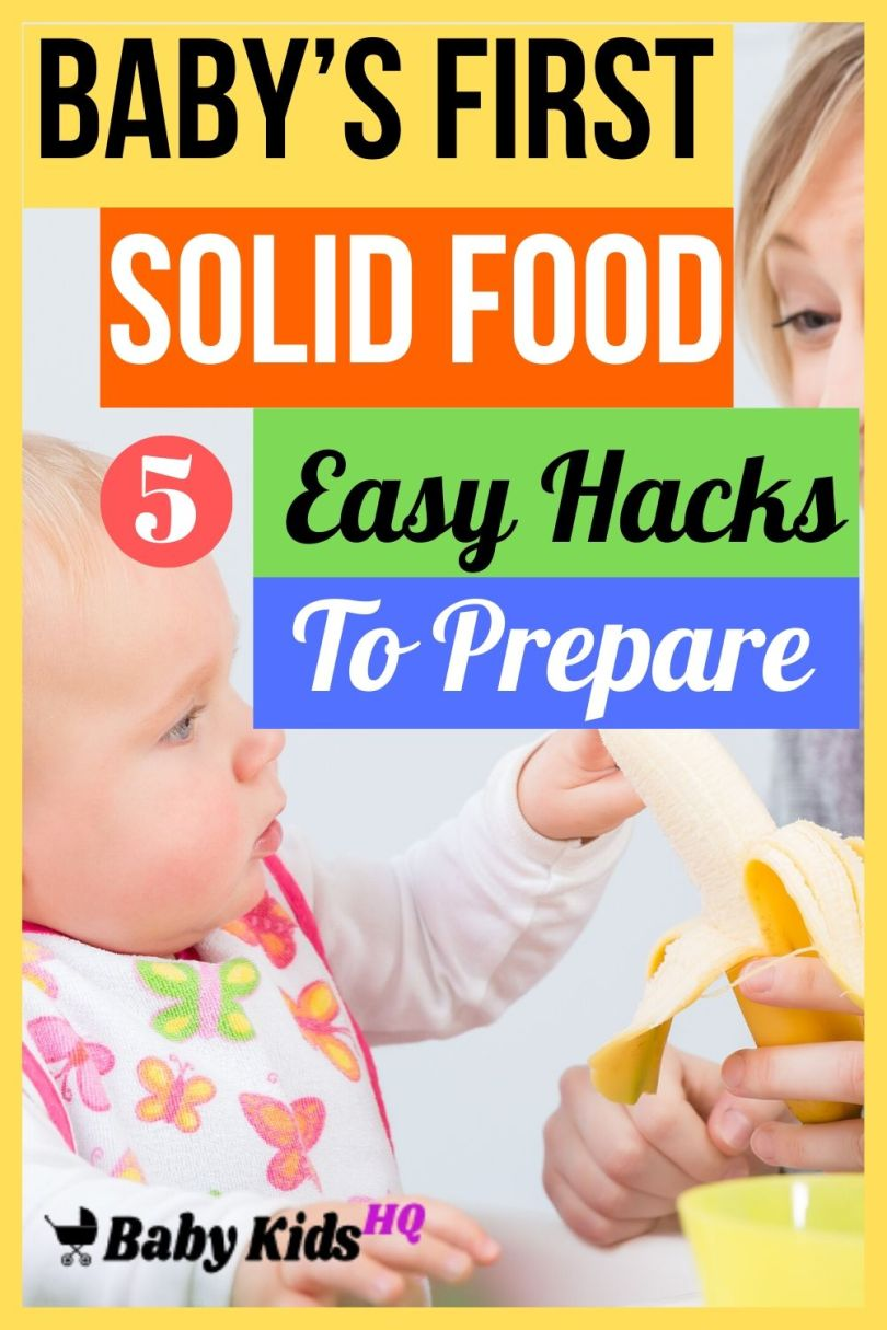 5 Easy Hacks To Prepare Baby's First Solid Food