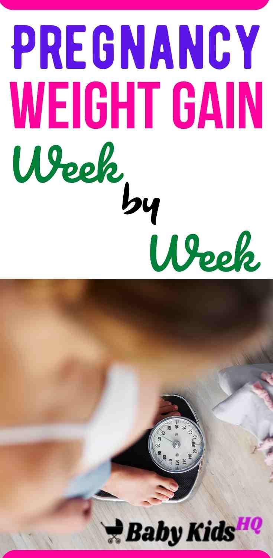 Pregnancy Weight Gain Week By Week
