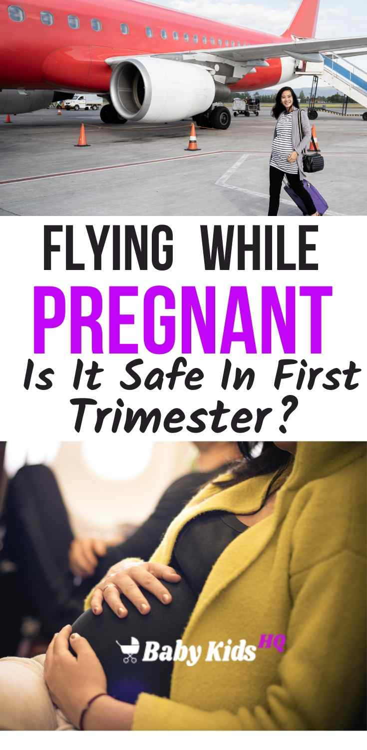 Flying while pregnant is usually best left until the second trimester when there is no risk of miscarriage, no risk of labor, and no (or reduced) morning sickness. Firstly, try not to worry about it. You don't need to cancel your flight plans when you find out you are pregnant, many people travel whilst pregnant and there is no link between flying while pregnant and miscarriage.