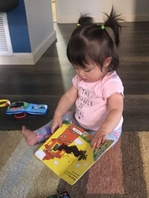 Tilly reads Rapunzel by Chloe Perkins