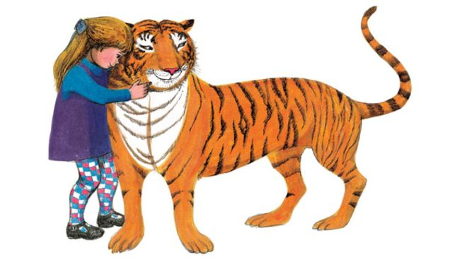 The Tiger Who Came to Tea spread