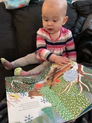 Marian reads Little Christmas Tree