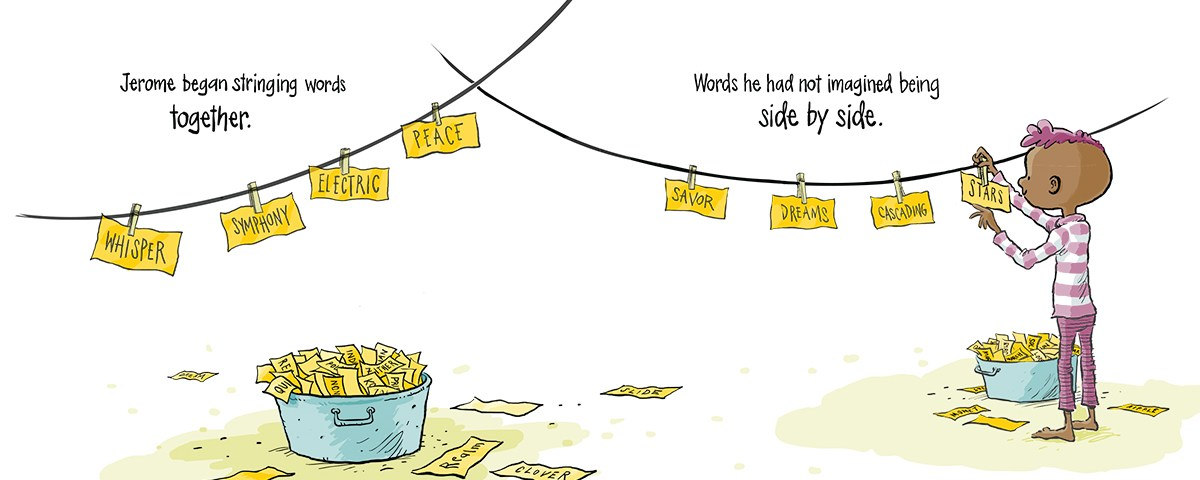Spread of The Word Collector by Peter Reynolds