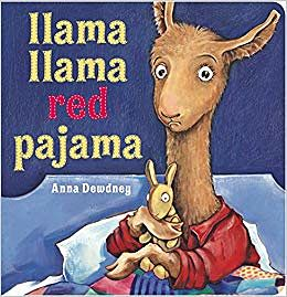 Llama Llama Red Pajama by Anna Dewdney book cover