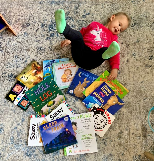 Marian with imagination library books