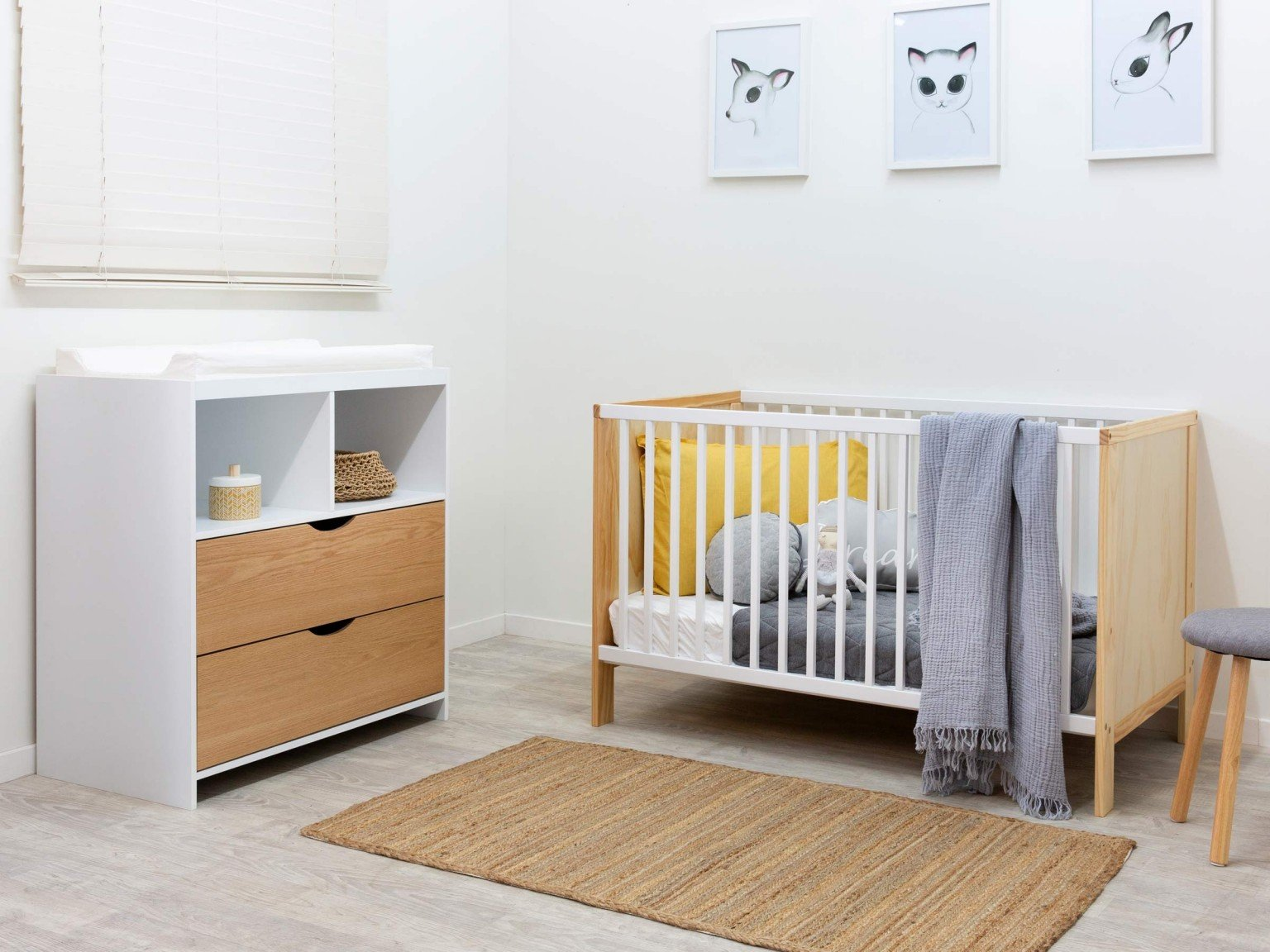 baby room package with cot and change table
