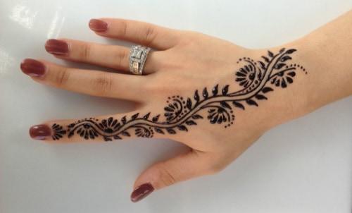 Comment faire vos propres tatouages au henné - dessin facile tatouage temporaire au henne - Babylone Paris