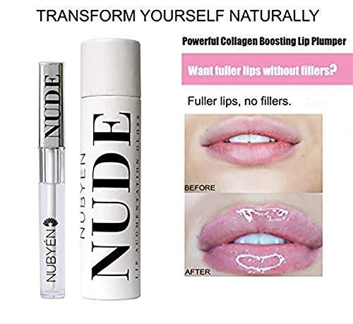 Nubyen Nude - Puissant volume, augmentation, purification des lèvres au sérum Formulé par une équipe de médecins et cosmétique Les scientifiques comme alternative aux charges de lèvres 1.83oz