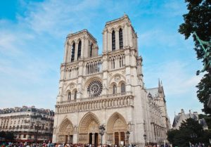 ancient-antique-architecture. Fire at Notre Dame Cathedral fully extinguished