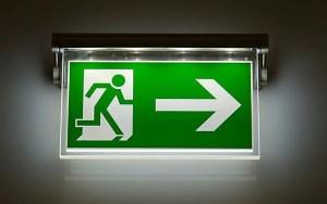 Irish goodbye exit sign iStock