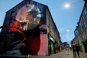 One of the many pieces in Waterford as part of Waterford Wall. Pic Julien Behal
