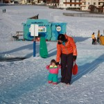 Baby's First Tobboggan Run St Anton am Arlberg