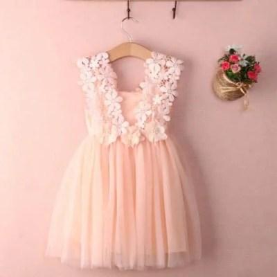 Vestido Glamour rosa bautizo