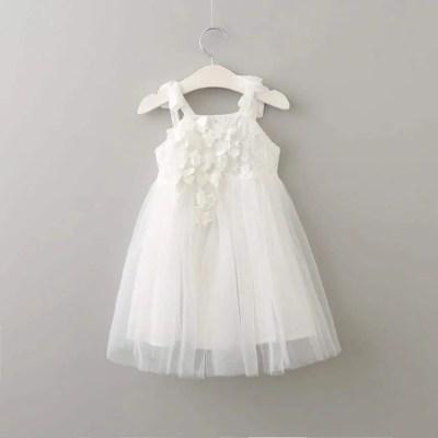 Vestido para niña color blanco