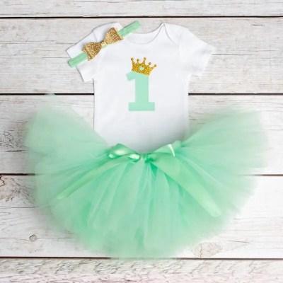 Vestido 1 año verde