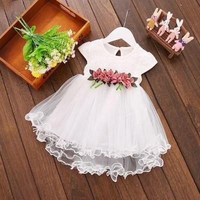 vestido bautizo flores