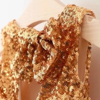 Vestido fiesta Lentejuelas Dorado
