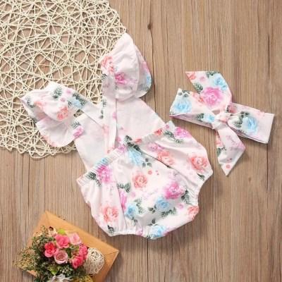 Outfit bebe flores rosadas