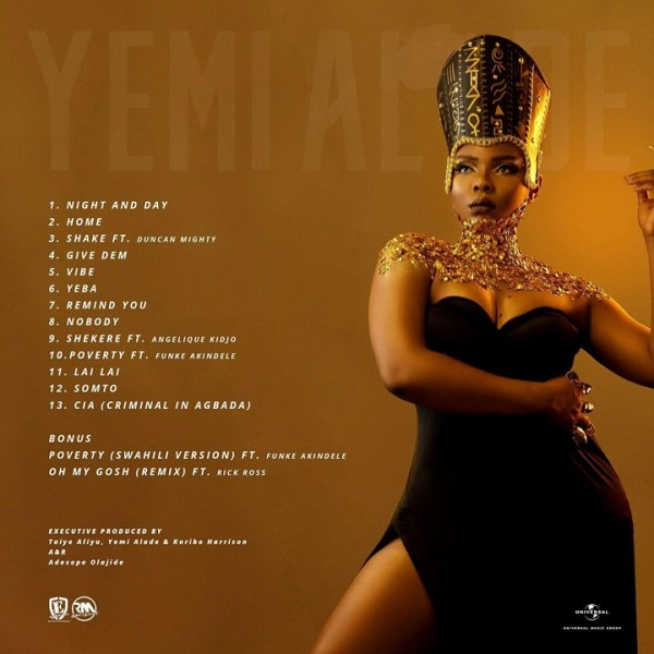 yemi alade woman of steel album tracklist
