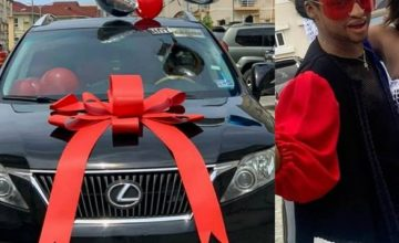 Friends Gift Media Personality, Denrele Edun, A Lexus SUV As His 40th Birthday Present (Photos)