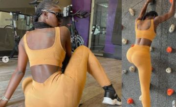 BBNaija Star, Khloe Puts Her Curvy Backside On Display In New Workout Photos