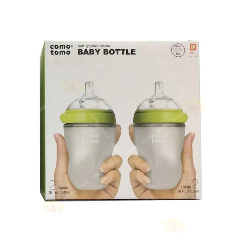 Comotomo防脹氣奶樽250ml配2滴流速奶嘴(適合3-6個月寶寶) | Comotomo | BabyMall