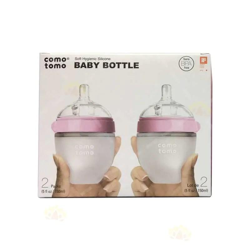 Comotomo防脹氣奶樽150ml配1滴流速奶嘴(適合0-3個月寶寶) | Comotomo | BabyMall
