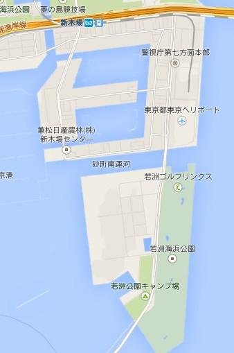 若洲公園地図
