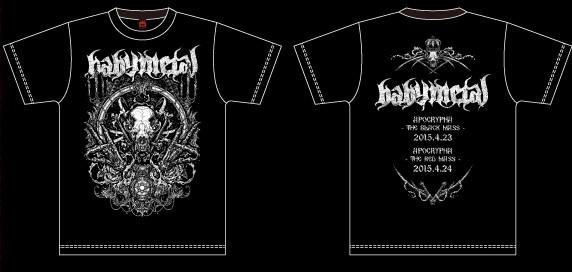 BABYMETAL黒ミサ限定Tシャツ