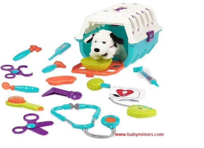 Dalmatian-Vet-Kit-Interactive-Vet-Clinic-and-Cage-Pretend-Play-for-baby girls