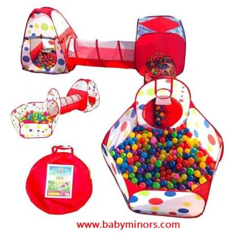 Kids-Ball-Pit-Crawl-Tunnel-Play-Tent-Meaningful Gifts for One Year Old Boy