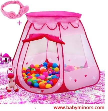 Pink-Princess-Tent-Kids-Ball-Pit-1st-Gift-Toddler-Latest Gifts Ideas For 1 Year Old Baby Girl
