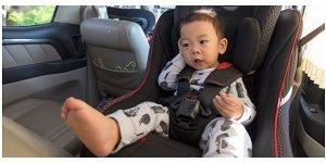 Convertible car seat in rear-facing