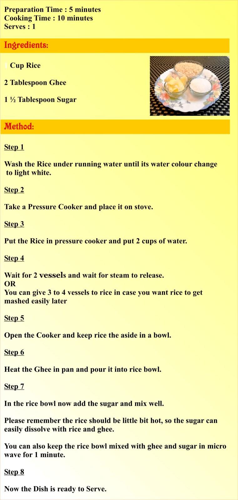 recipe of ghee rice