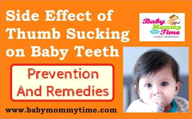 Side Effect of Thumb Sucking on Baby Teeth