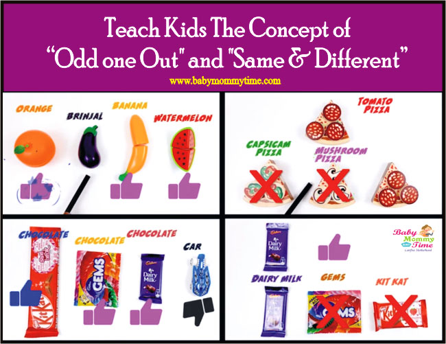 "Teach Kids The Concept of ""Odd one Out"" and ""Same & Different"""