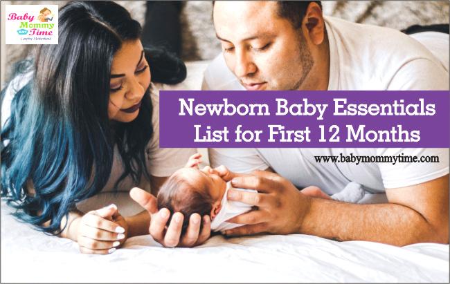 Newborn Baby Essentials 2021 List for First 12 Months