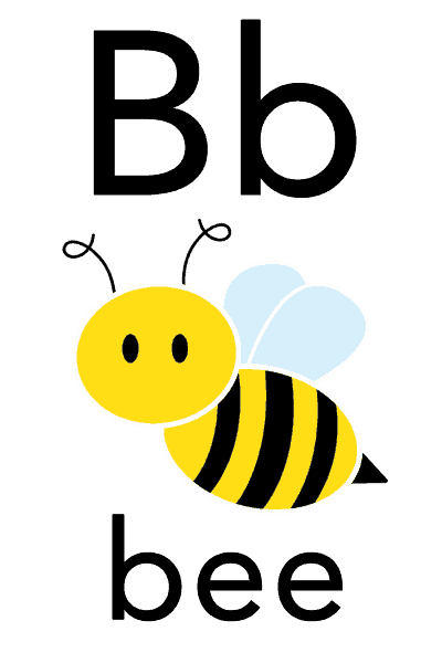 Baby Mozart ABC Flashcard for Children - B for Bee