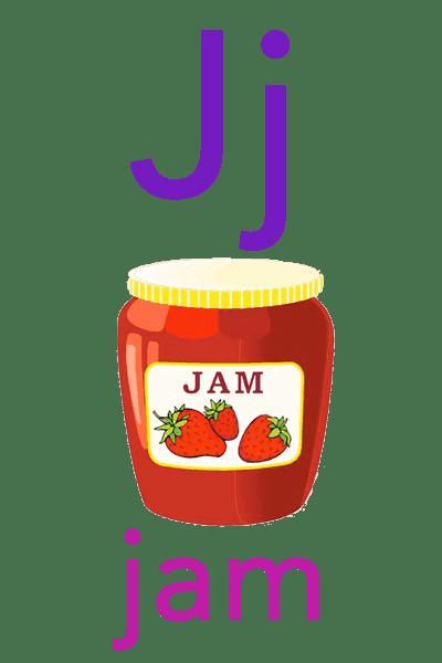 Baby ABC Flashcard - J for jam