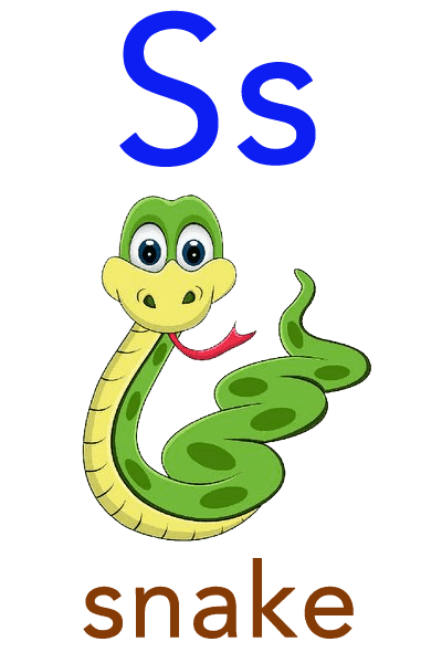 Baby ABC Flashcard - S for snake