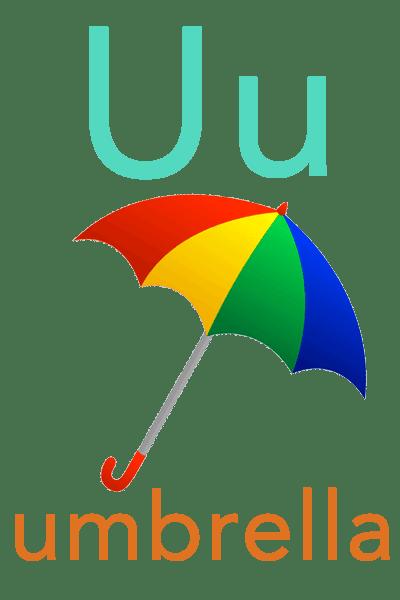 Baby ABC Flashcard - U for umbrella