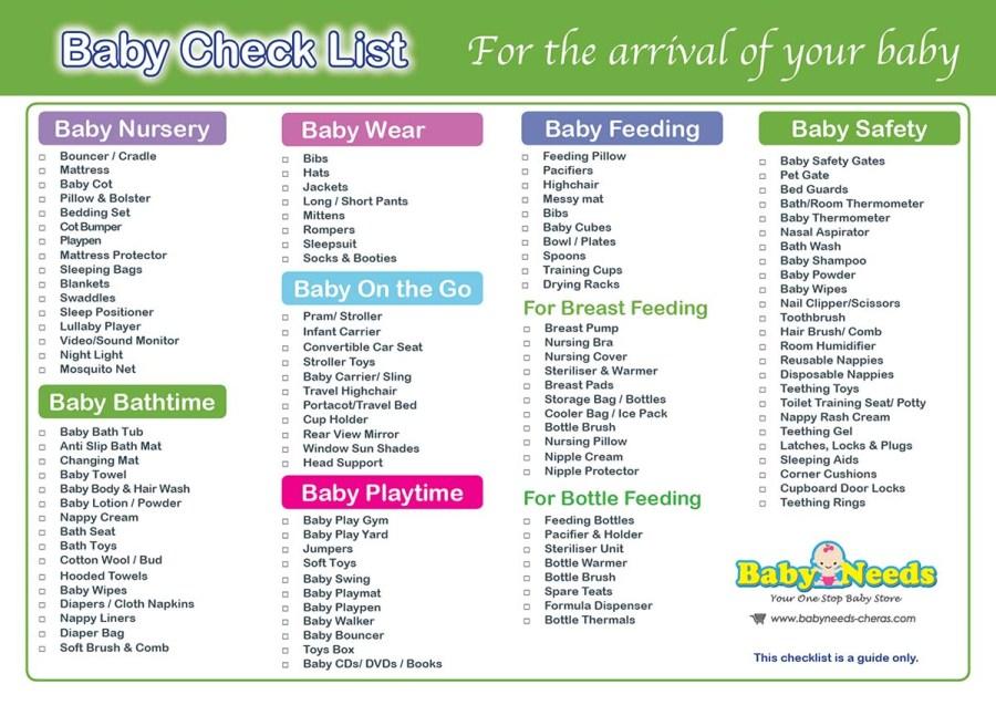 Newborn Baby Check List Baby Needs Online Store Malaysia