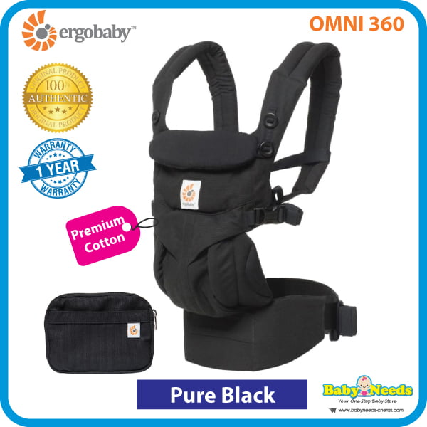 Ergobaby Omni 360 Carrier Pure Black Baby Needs