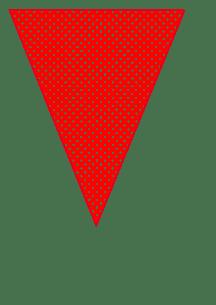 fanion pois rouge