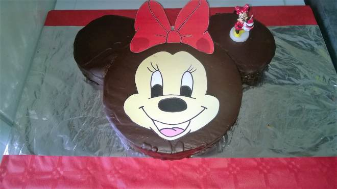 gateau chocolat-guimauves minnie