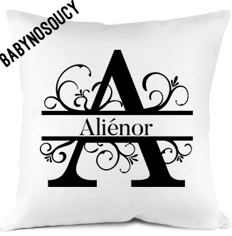 coussin prenom initiale baby no soucy