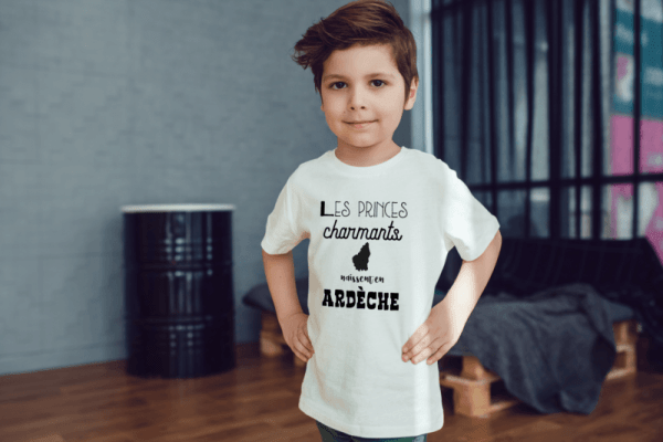 tee-shirt region personnalisable prince charmant baby no soucy