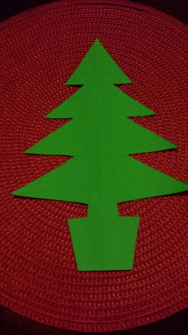 Christmas tree bunting template
